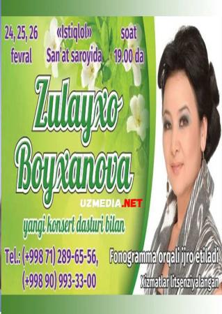 Zulayho Boyhonovaning yangi konsert dasturi 2014 Full HD tas-ix skachat