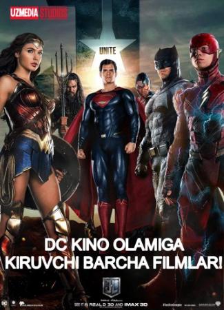 DC komik kino olamiga kiruvchi barcha filmlar to'plami Uzbek tilida O'zbekcha tarjima kino Full HD tas-ix skachat